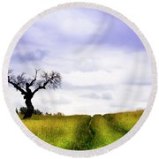 Round Beach Towel featuring the photograph Side By Side by Edgar Laureano