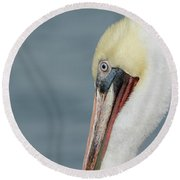 Round Beach Towel featuring the photograph Simplicity by Fraida Gutovich