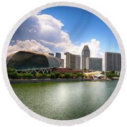 Singapore Round Beach Towel by Charuhas Images