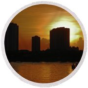 Round Beach Towel featuring the photograph 2- Singer Island by Joseph Keane