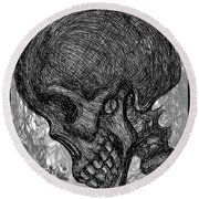 Gothic Skull Round Beach Towel
