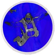 Skydiving Collection Round Beach Towel