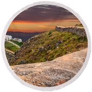South Stack Lighthouse Round Beach Towel