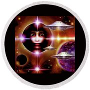 Space  Enigma  Round Beach Towel