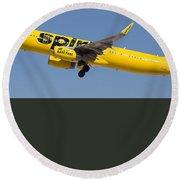 Spirit Airline Round Beach Towel
