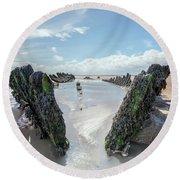 Ss Nornen - England Round Beach Towel