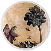 St. Francis Of Assisi Round Beach Towel