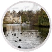St James Park Round Beach Towel