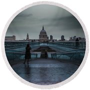St Paul's Cathedral Round Beach Towel by Martin Newman