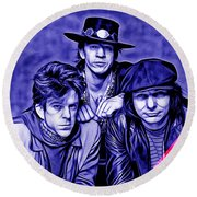 Stevie Ray Vaughan And Double Trouble Collection Round Beach Towel