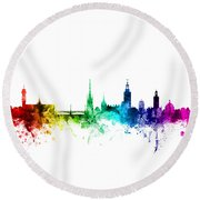 Stockholm Sweden Skyline Round Beach Towel