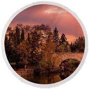 Stratford Courthouse Round Beach Towel