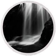 Sum Waterfall In Vintgar Gorge Round Beach Towel