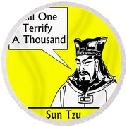 Sun Tzu Round Beach Towel