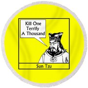 Sun Tzu Round Beach Towel