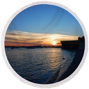 Round Beach Towel featuring the photograph 2- Sunset In Paradise by Joseph Keane