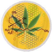Tetrahydrocannabinol Round Beach Towel