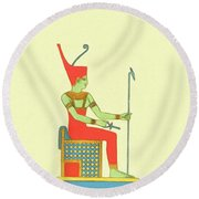 The Art Of Ancient Egypt Round Beach Towel