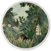 The Equatorial Jungle Round Beach Towel