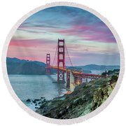 The Golden Gate Round Beach Towel by JR Photography