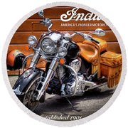 The Indian Motorcycle Round Beach Towel