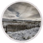 The Ochil Hills Round Beach Towel