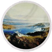 The Plains Of Heaven Round Beach Towel