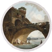 The Ponte Salario Round Beach Towel