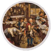 The Tax Collectors Office  Round Beach Towel