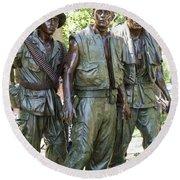 Three Soldiers Round Beach Towel by David Bearden