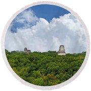 Tikal, Guatemala Round Beach Towel