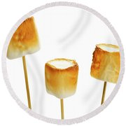 Round Beach Towel featuring the photograph Toasted Marshmallows by Elena Elisseeva
