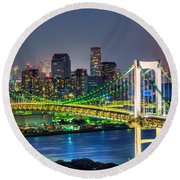 Tokyo - Japan Round Beach Towel by Luciano Mortula