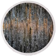 Touch Of Winter Round Beach Towel