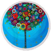Tree Of Life Round Beach Towel