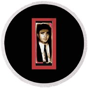 Triple Murderer Charles Schmid Not In Makeup Tucson Arizona Collage Circa 1966-2013 Round Beach Towel