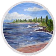 Trixies Cove Round Beach Towel