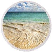 Tropical Beach  Round Beach Towel