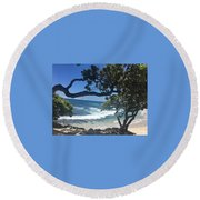 Tropical Paradise Round Beach Towel
