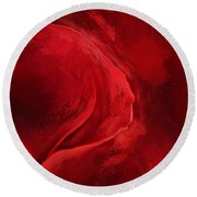 Unfurling Beauty IIi Round Beach Towel
