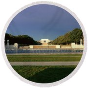 U.s. World War II Memorial Round Beach Towel