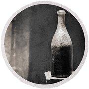 Vintage Beer Bottle Round Beach Towel