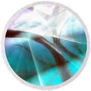Wake Up In The Forest Round Beach Towel
