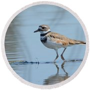 Walk Softly Round Beach Towel