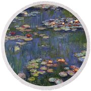 Water Lilies, 1916 Round Beach Towel