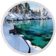 Water Protector  Round Beach Towel