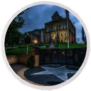Round Beach Towel featuring the photograph Webster County Courthouse by Thomas R Fletcher