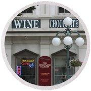 Wine And Chocolate Round Beach Towel
