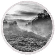 Round Beach Towel featuring the photograph Winter Mist by Thomas R Fletcher