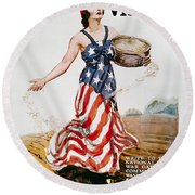 World War I: U.s. Poster Round Beach Towel